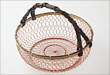 手付手編みかご 銅×竹|大