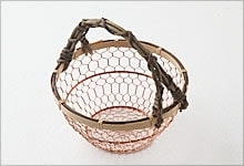 手付手編みかご 銅×竹|小