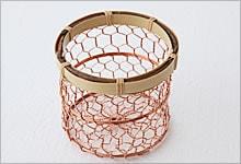 おしぼり入れ 銅×竹|銅