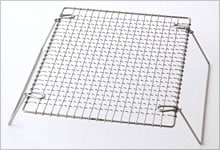 足付焼網 ステンレス|長方形
