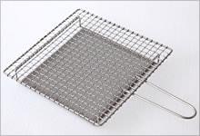 手付焼網(受け付) ステンレス|大・正方形