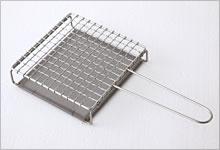 手付焼網(受け付)  ステンレス|小・正方形