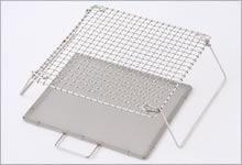 足付焼網(セット) ステンレス|正方形