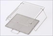 足付焼網(セット) ステンレス|長方形