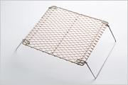 銅手編み 足付焼網