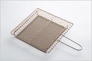 銅手編み 手付焼網