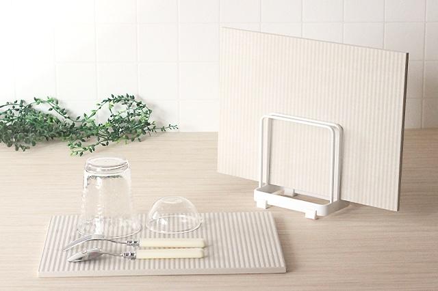 なのらぼ ドライングプレートスタンド【単品】 ホワイト