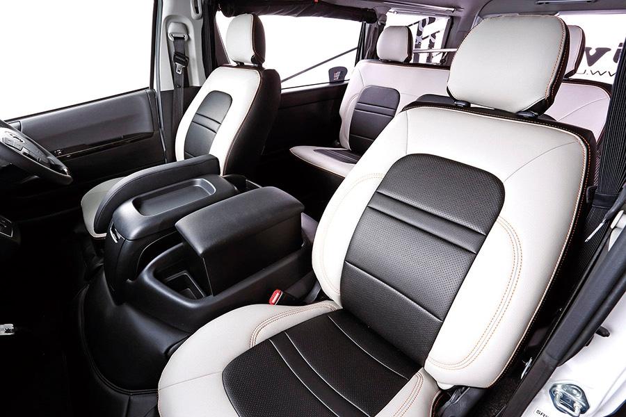 ユーアイビークル/UIvehicle ハイエース/HIACE コンプリートカー:快適車中泊パッケージ コンフォートレザーシートカバー