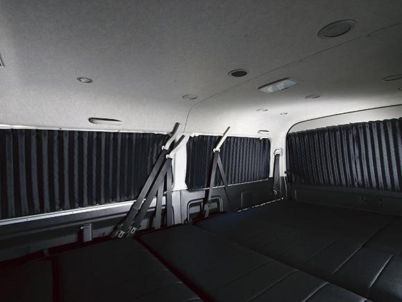 ユーアイビークル/UIvehicle ハイエース/HIACE コンプリートカー:ワゴン GL RX パッケージ 遮光カーテン
