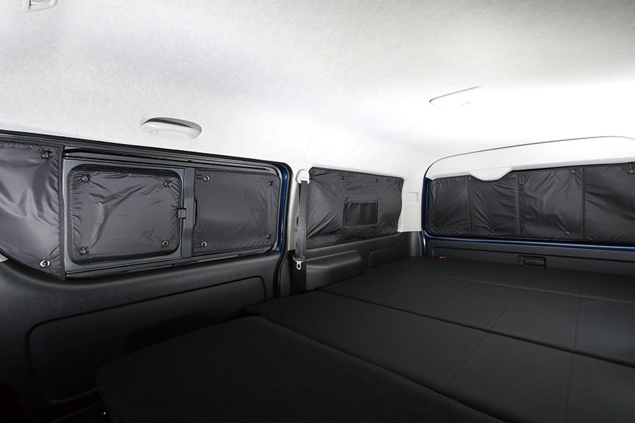 ユーアイビークル/UIvehicle ハイエース/HIACE コンプリートカー:快適車中泊パッケージ 遮光パッド