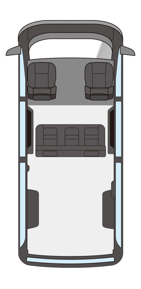 ユーアイビークル/UIvehicle ハイエース/HIACE コンフォートエディション 座席配置漫画