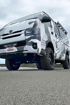 ユーアイビークル/UIvehicle ハイエース/HIACE 3インチ・6インチリフトアップ コンプリートカー  トレックエディション
