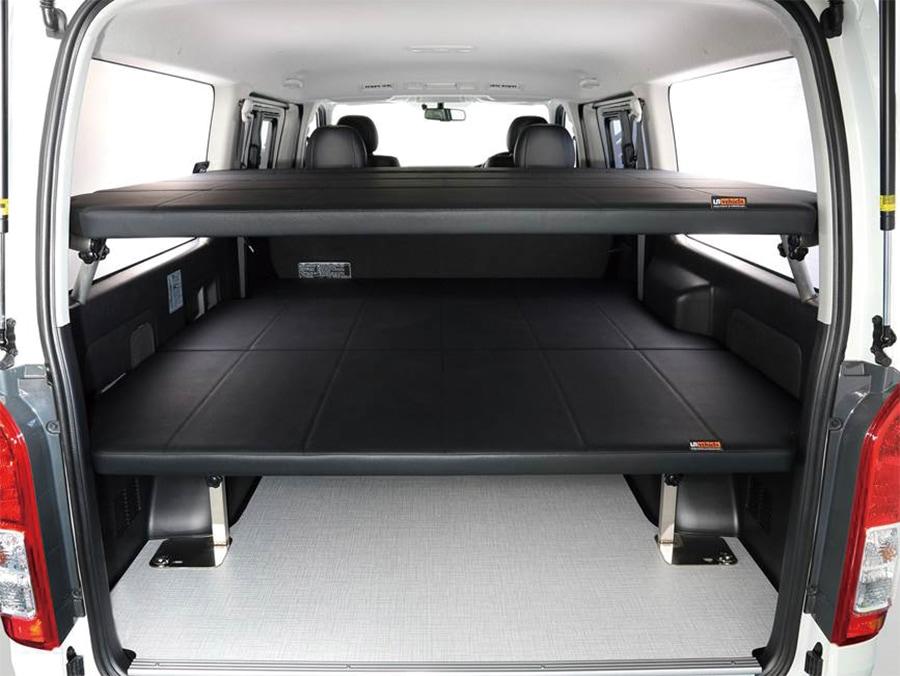 ユーアイビークル/UIvehicle ハイエース/HIACE コンプリートカー:快適車中泊パッケージ 2段ベッド レザー仕上げ