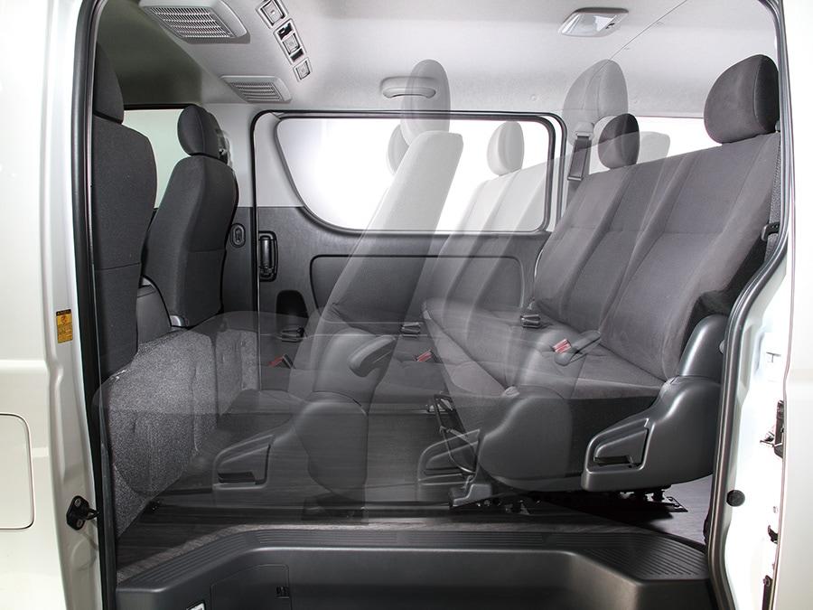 ユーアイビークル/UIvehicle ハイエース/HIACE コンプリートカー:快適車中泊パッケージ スライドレール埋め込みフロア