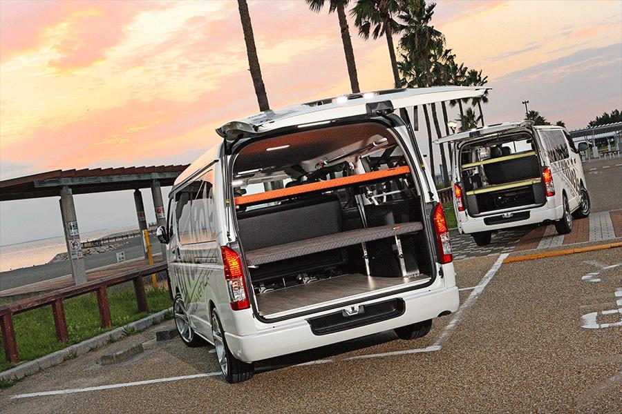 ユーアイビークル/UIvehicle ハイエース/HIACE コンプリートカー:快適車中泊パッケージ