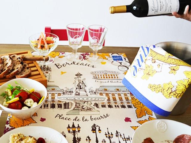 フランスのおしゃれなティータオルの使い方。テーブルクロスやお皿の水切りに。フランス雑貨店の通販
