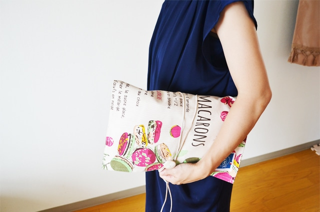 ティータオルは使い方色々。クラッチバッグやトートバッグなどハンドメイドの生地の材料に。