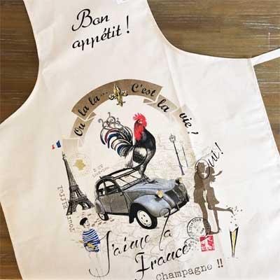 フランス製エプロン,ボナペティ,フランス雑貨のラメゾンドレイル