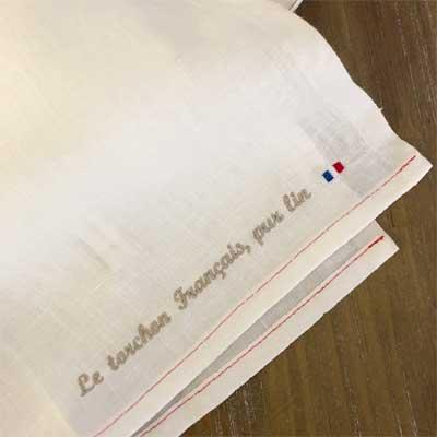 リネン100%,フランス雑貨のラメゾンドレイル,CHARVET EDITIONS