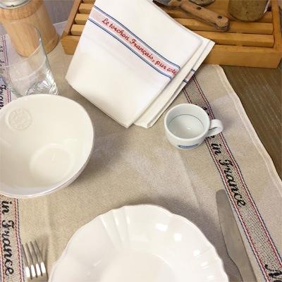 フランス製リネンティータオル通販。横浜山手フランス雑貨ラメゾンドレイル公式通販