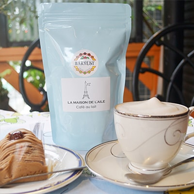 カフェオレ専用コーヒー豆を横浜山手のフランス雑貨店で通販できます