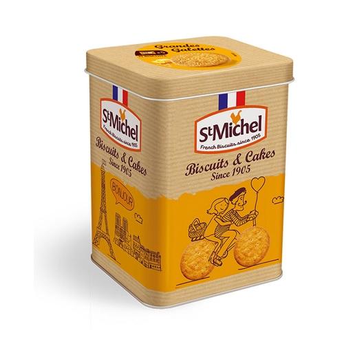 サンミッシェル グランガレットシーソルト缶入り(3枚×5袋)サンミッシェルの輸入菓子通販はこちら。横浜山手フランス雑貨ラメゾンドレイル公式通販