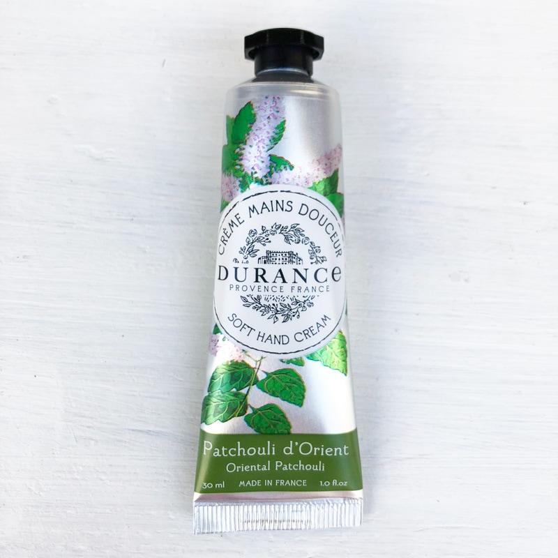 フランス製ハンドクリーム|パチュリの香り|オリーブオイルとアーモンドオイル配合|南仏プロヴァンス・エスプリデュランス【DURANCE】乾燥・保湿に。プチプラギフトにおすすめ