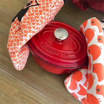 フランス雑貨のラメゾンドレイル,フランスキッチン雑貨,かわいい鍋つかみ