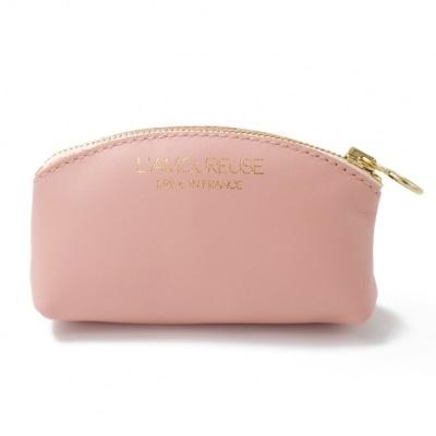 フランスブランドのコインケースと桃の香りのミニ香水のギフトセット。小さくてかわいいフランス雑貨のプレゼントにおすすめ。横浜山手フランス雑貨・ラメゾンドレイル