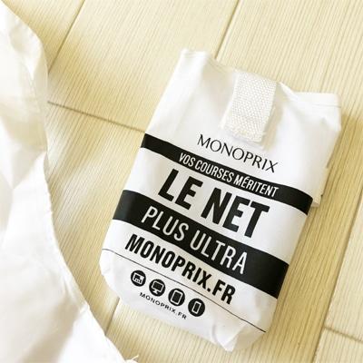 フランス雑貨のラメゾンドレイル,エコバッグナイロン,モノプリエコバッグ