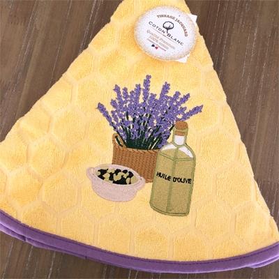 プロヴァンス雑貨,可愛いキッチンタオル,プロヴァンス円形タオル
