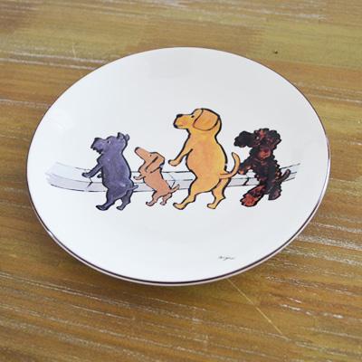 レイモン・サヴィニャックグッズ通販こちら。かわいい犬たちのイラストのお皿(清潔なキャンペーン)。横浜山手フランス雑貨ラメゾンドレイル公式通販
