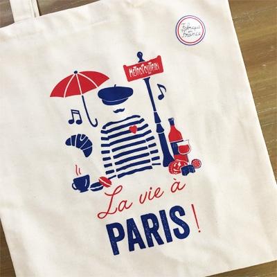 Tissage de l'ouestのトートバッグはフランス雑貨のラメゾンドレイル