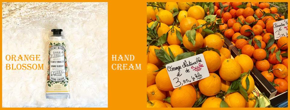 フランスブランド・パニエデサンスのハンドクリーム通販。オレンジブロッサム・柑橘系の香り