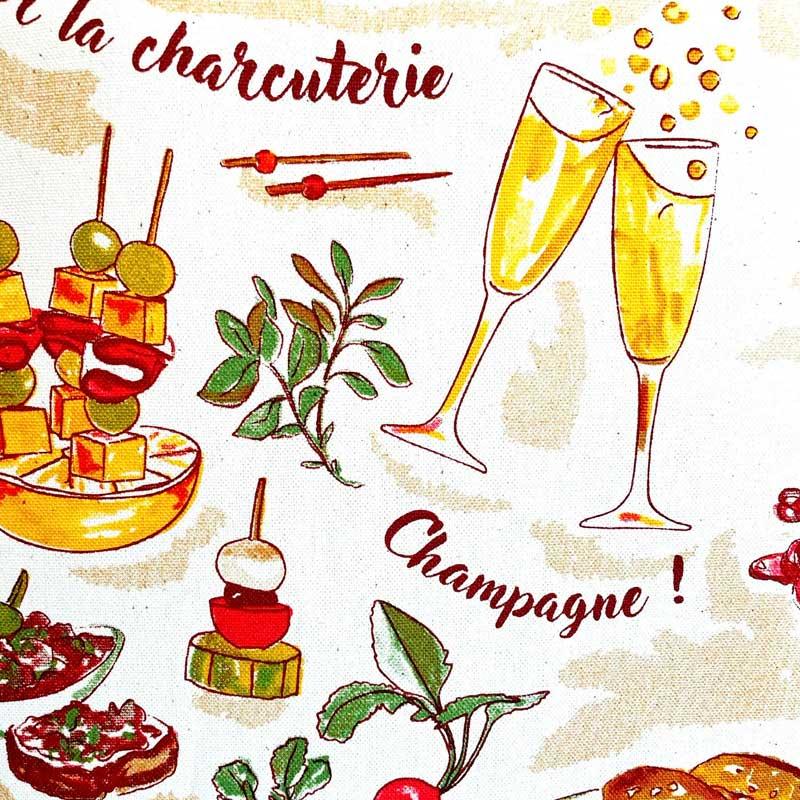 フランス雑貨の通販で買えるフランス製ティータオル。アペリティフのデザイン