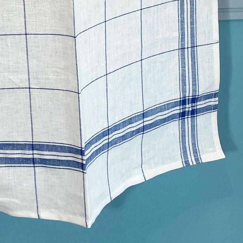 リネンキッチンクロスはフランス製の青いチェック。お手拭きやお皿拭きにおすすめ。フランス雑貨公式通販ラメゾンドレイル