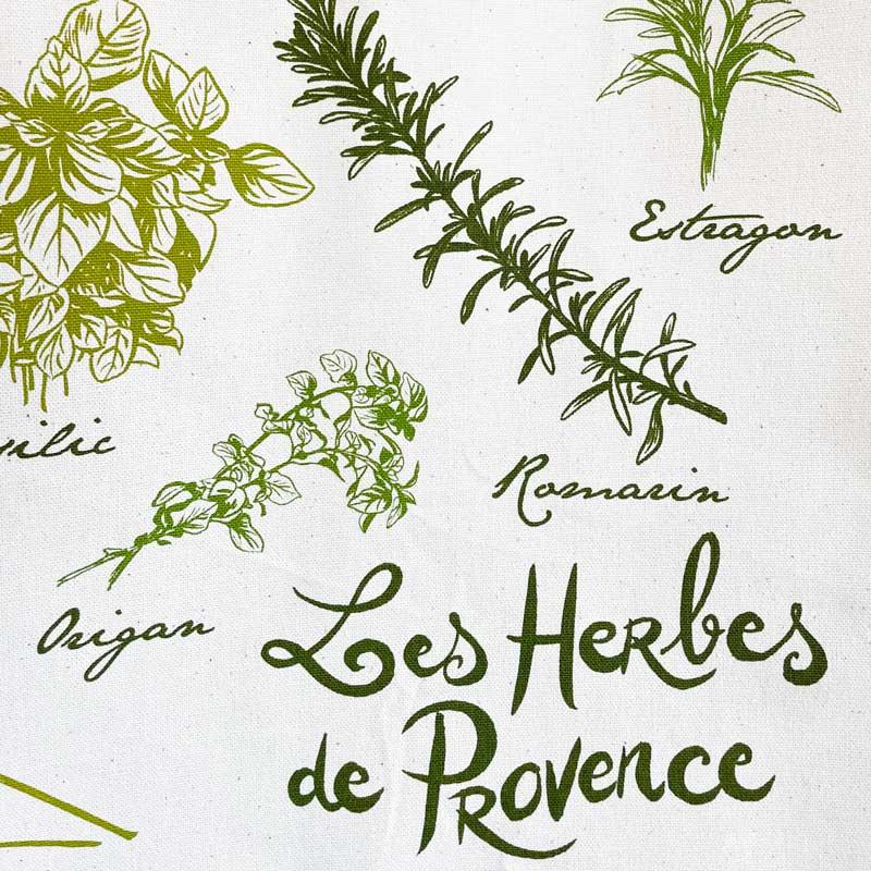 プロヴァンスのハーブ一覧がティータオルに。フランス雑貨通販ラメゾンドレイル