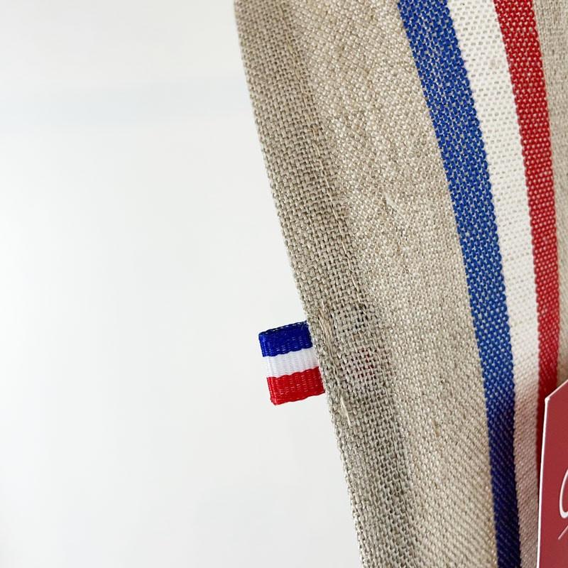 リネンキッチンクロスはフランス製のトリコロールカラー。お手拭きやお皿拭きにおすすめ。フランス雑貨公式通販ラメゾンドレイル