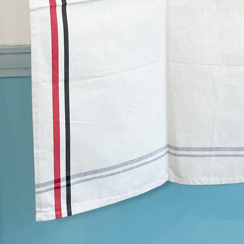 リネンキッチンクロスはフランス製の赤と黒のボーダーライン。お手拭きやお皿拭きにおすすめ。フランス雑貨公式通販ラメゾンドレイル