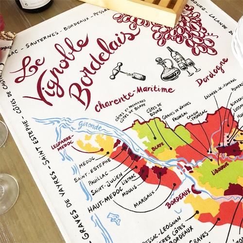 フランス雑貨・ティータオル専門店,ワイングッズ,ボルドーワイン地図