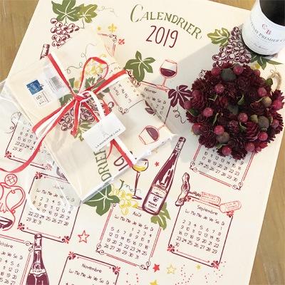 ティータオル専門店のラメゾンドレイル,フランス雑貨のラメゾンドレイル,ワインカレンダー