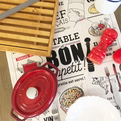 フランス雑貨のラメゾンドレイル,おしゃれなティータオル,おすすめティータオル