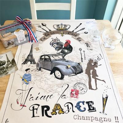 フランス雑貨,ティータオル,エッフェル塔雑貨