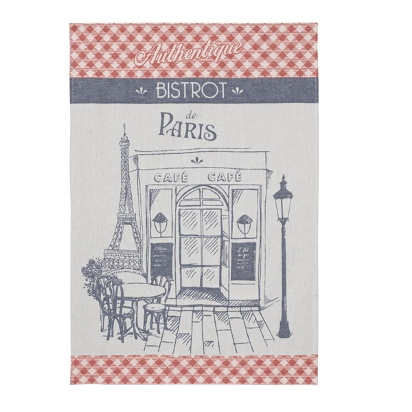 パリのビストロをイメージしたティータオルはギフトにおすすめ。,フランス雑貨ラメゾンドレイル