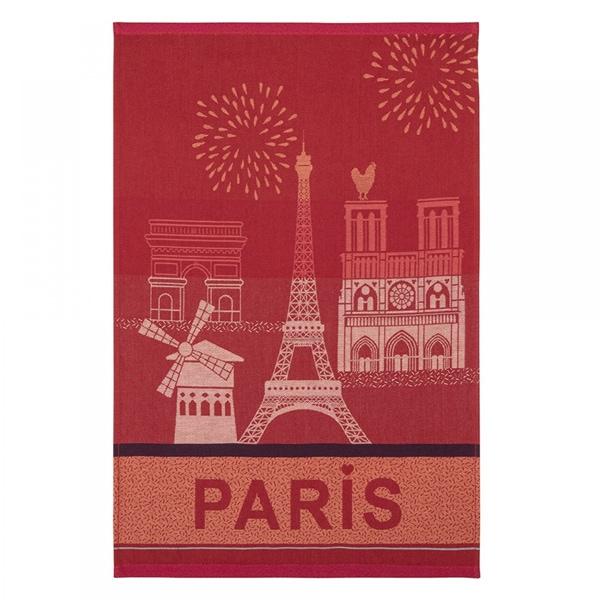 パリの観光地をイメージしたティータオルはギフトにおすすめ。,フランス雑貨ラメゾンドレイル