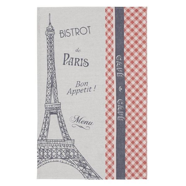 エッフェル塔をイメージしたティータオルはギフトにおすすめ。,フランス雑貨ラメゾンドレイル