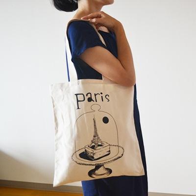 フランス雑貨・フランス製 トートバッグ Paris under glass 【トルション&ブション】