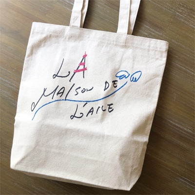 雑貨屋さんのトートバッグ,横浜フランス雑貨のラメゾンドレイル,かわいいトートバッグ