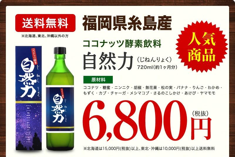 自然力6,800円(税抜)