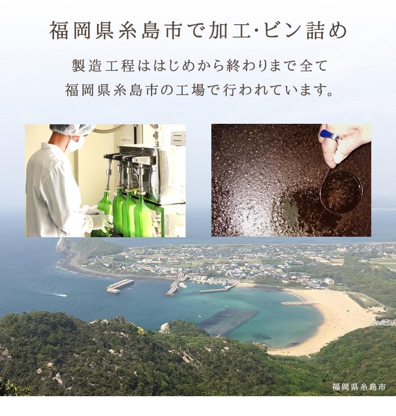 福岡県糸島市で加工・ビン詰め。ココナッツ酵素飲料「自然力」の製造工程ははじめから終わりまで全て福岡県糸島市の工場で行われています。